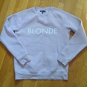 "Brunette the Label ""blonde"" sweater"